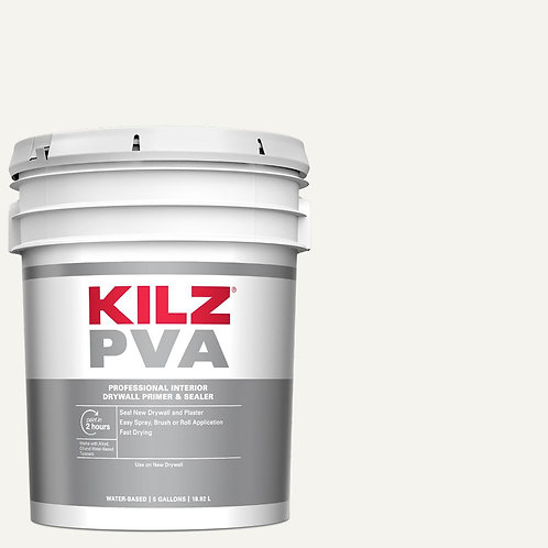 KILZ PVA 5 Gal. White Interior Drywall Primer