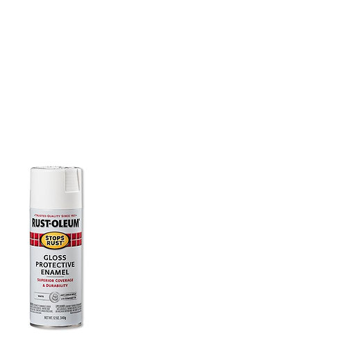 Rust-Oleum 12 oz. Protective Enamel Gloss White Spray Paint