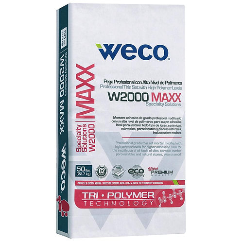 WECO W2000 MAXX 50 lb. White Professional High Polymer Level Adhesive