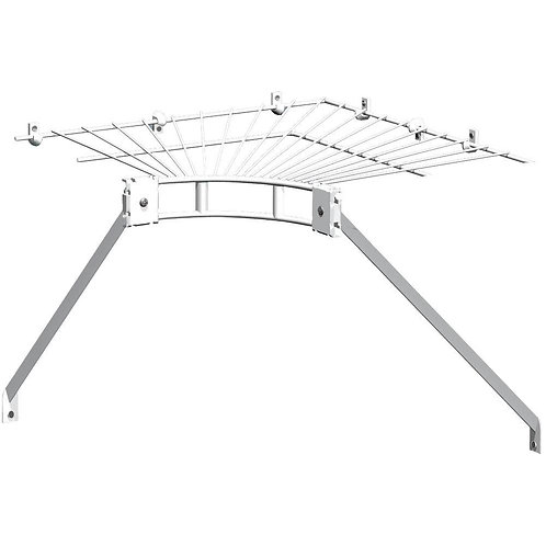 ClosetMaid Ventilated Wire Corner Shelf for 12 in. Shelf and Rod Shelving