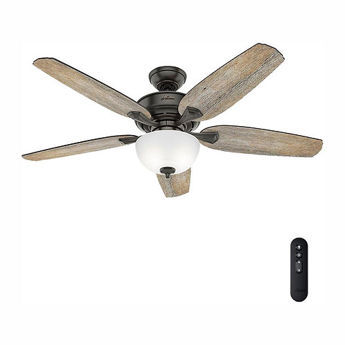 Hunter Channing 54 in. LED Indoor  Noble Bronze Ceiling Fan
