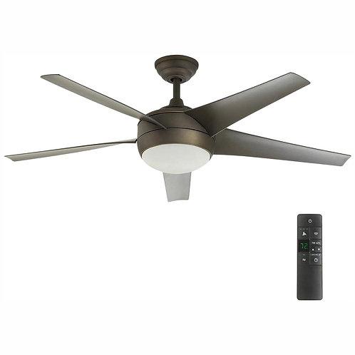Windward 52 in. LED Indoor Oil-Rubbed Bronze Ceiling Fan