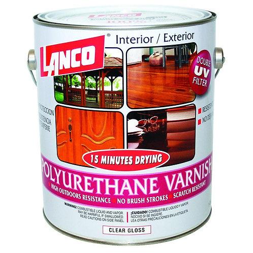 Lanco 15 Minutes 1 Gal. Polyurethane Interior/Exterior Varnish