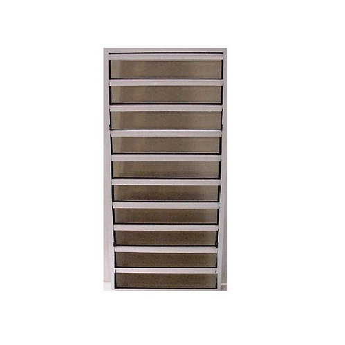 24 in. x 49.25 in. Master Guard Security Louver Awning Aluminum Window in White