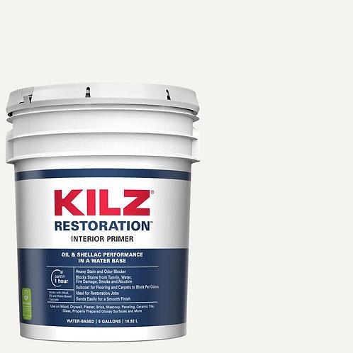KILZ RESTORATION 5 Gal. White Interior Primer, Sealer, and Stain Blocker