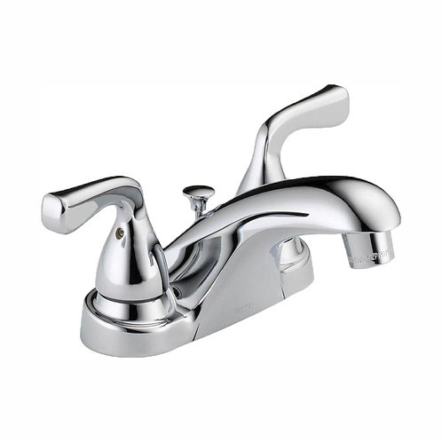 Delta Foundations 4 in. Centerset 2-Handle Bathroom Faucet in Chrome