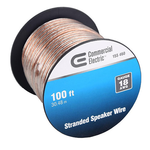 Commercial Electric 100 ft. 18-Gauge Stranded Speaker Wire