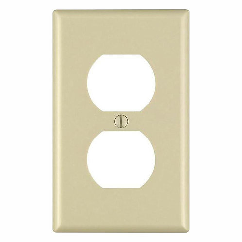 Leviton 1-Gang Duplex Outlet Wall Plate, Ivory (10-Pack)