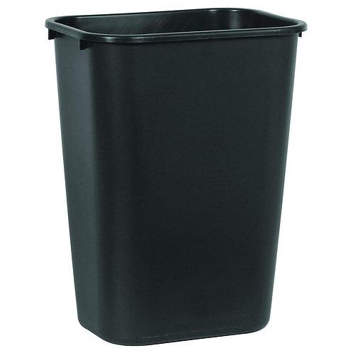 10.38 Gal. Black Rectangular Trash Can