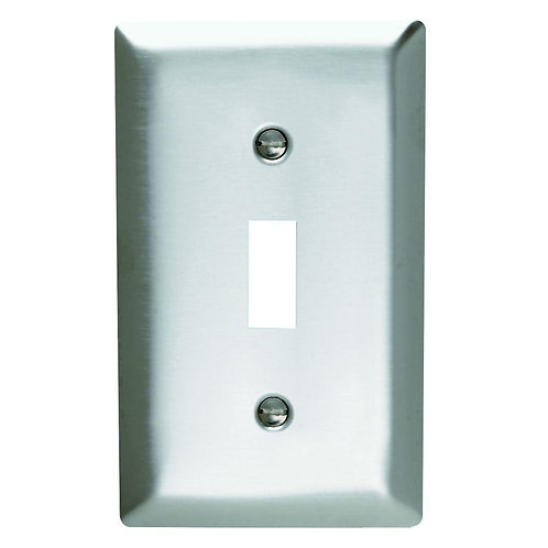 Legrand Pass & Seymour 1-Gang 1 Toggle Wall Plate - Stainless Steel