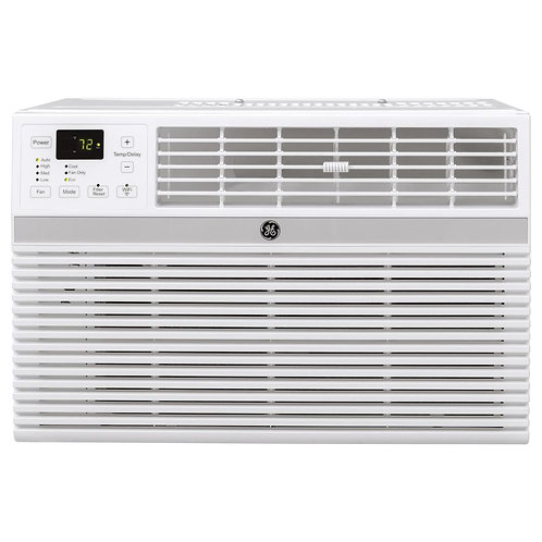 GE 5,000 BTU 115-Volt Smart Window Air Conditioner with Remote in Gray