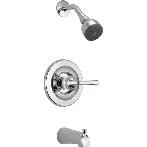 Delta Foundations Single-Handle 1-Spray Tub and Shower Faucet in Chrome (Valve I