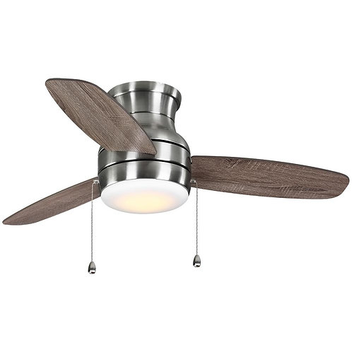 Ashby Park 44 in. White Color Changing Integrated LED Brushed Nickel Ceiling Fan