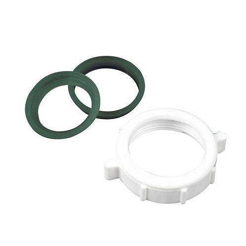 Everbilt 1-1/2 in. Plastic Slip Joint Nut with 1-1/2 in. Reducing Washer