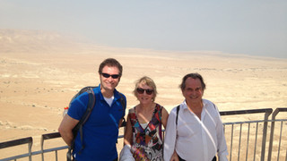 Oct 2015 - A tour of dead sea with Pierre Ladeveze and Mrs. Ladeveze