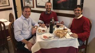 Nov 2018 - Torino - enjoying a great Italian dinner with Alberto and Pietro