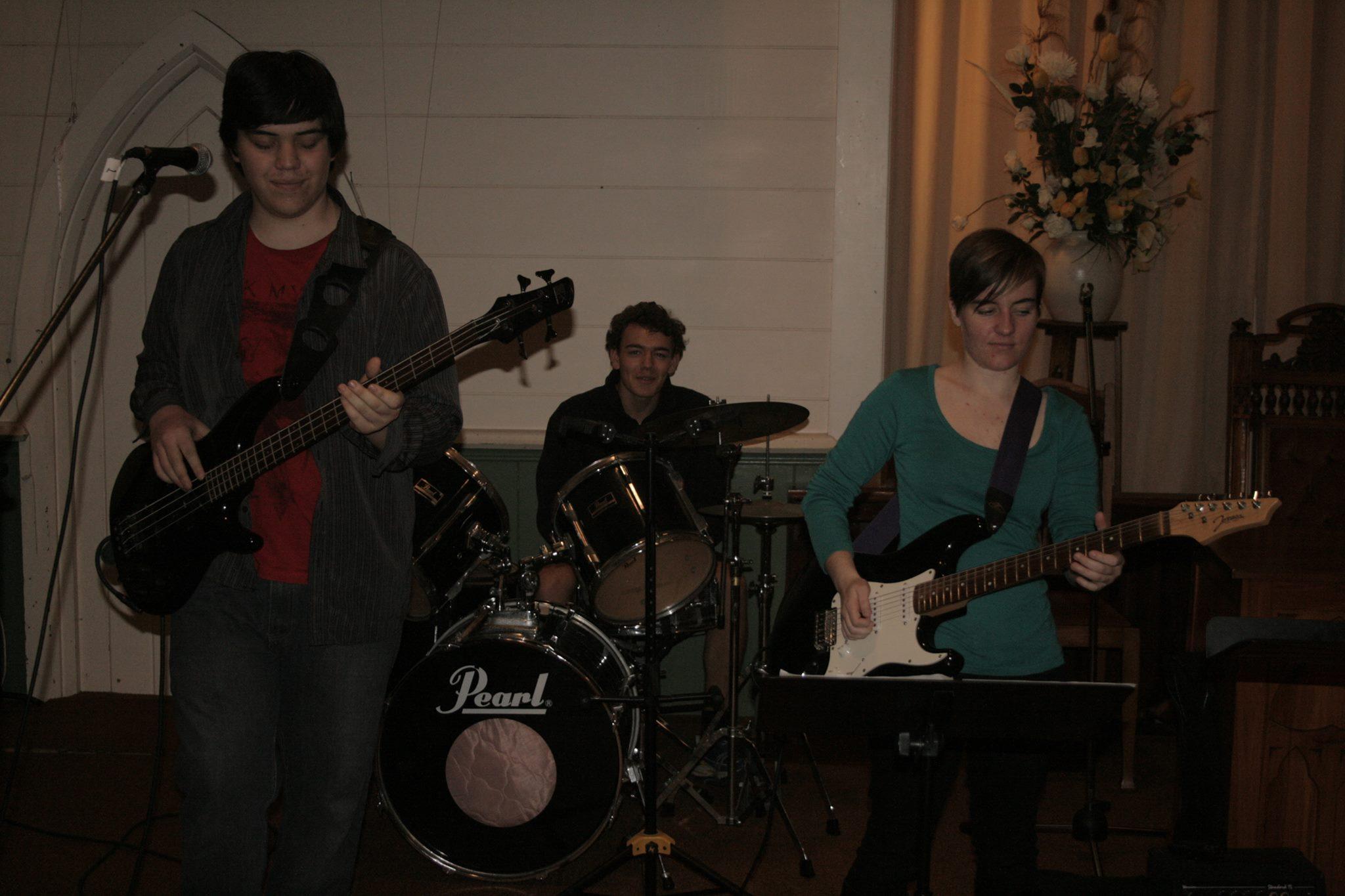 Band rehearsal at the church