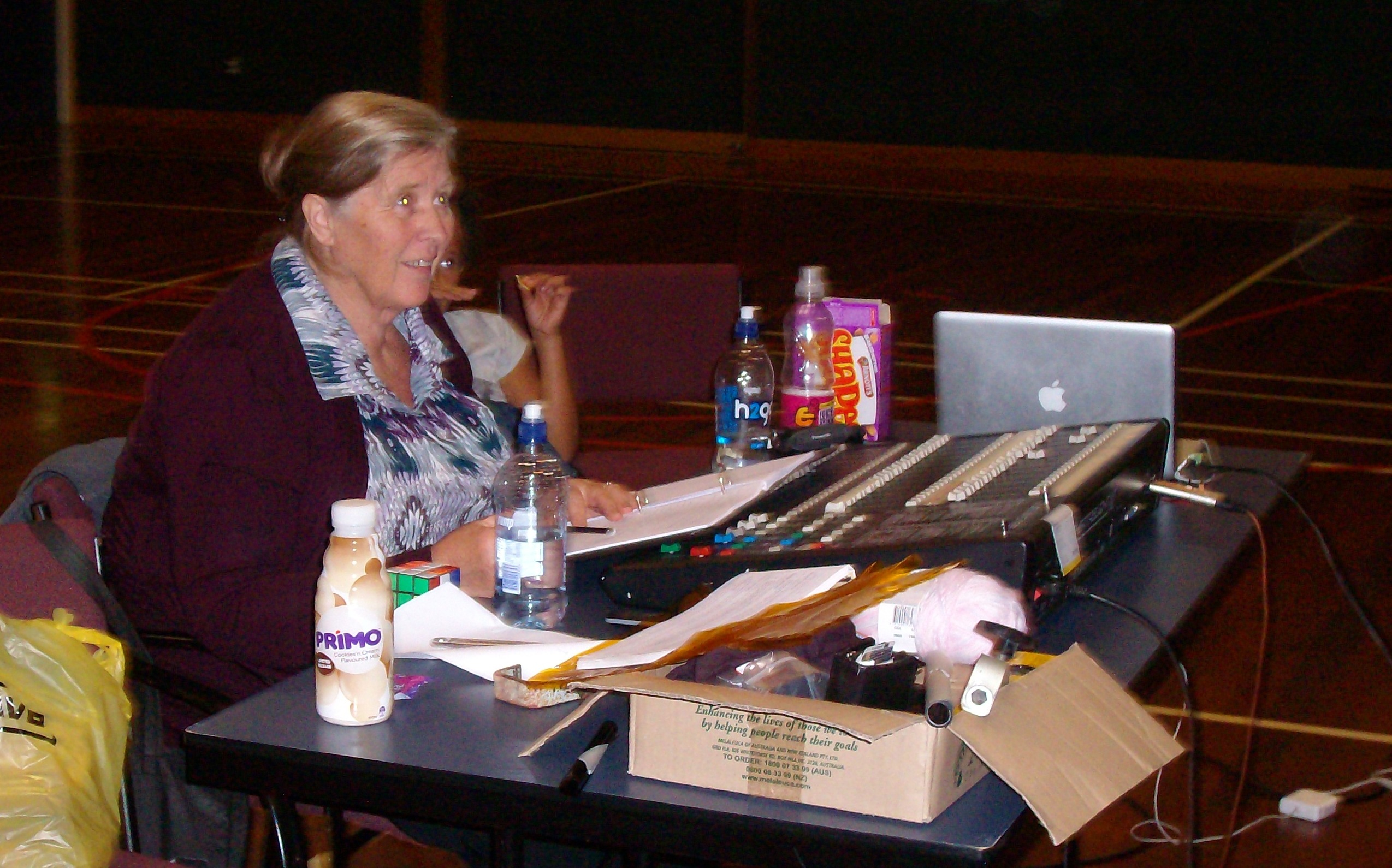 Cathie on the lighting desk