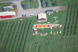 Aerial view of Fobare's Farm