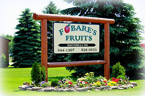 Fobare's Fruits Entrance Sign