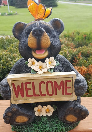 Photo of bear statue