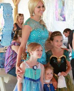 Princess tea party group shot