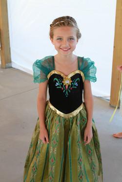 Young girl dresses as a princess