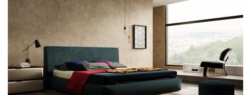 Интерьерная кровать Stella с корпусом из массива дерева