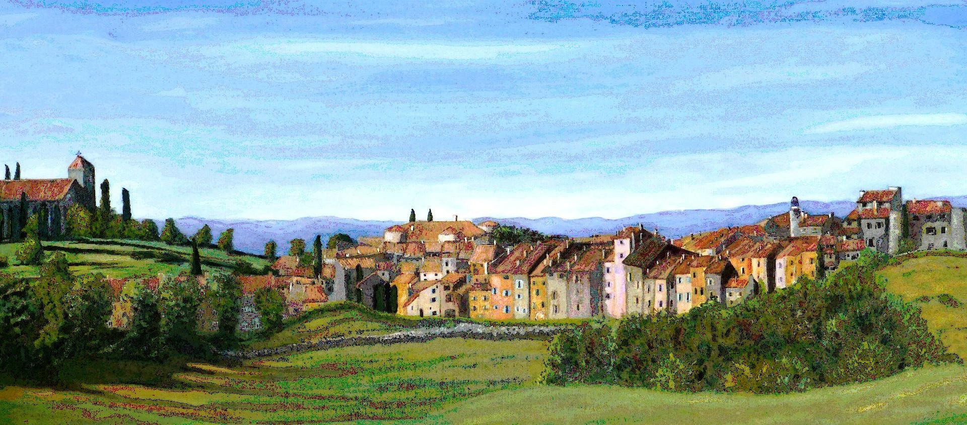 le village dans le ciel