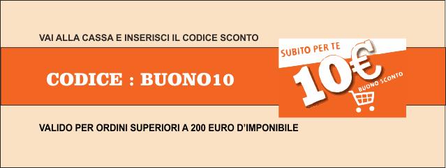 Buoni Sconto € 10,00