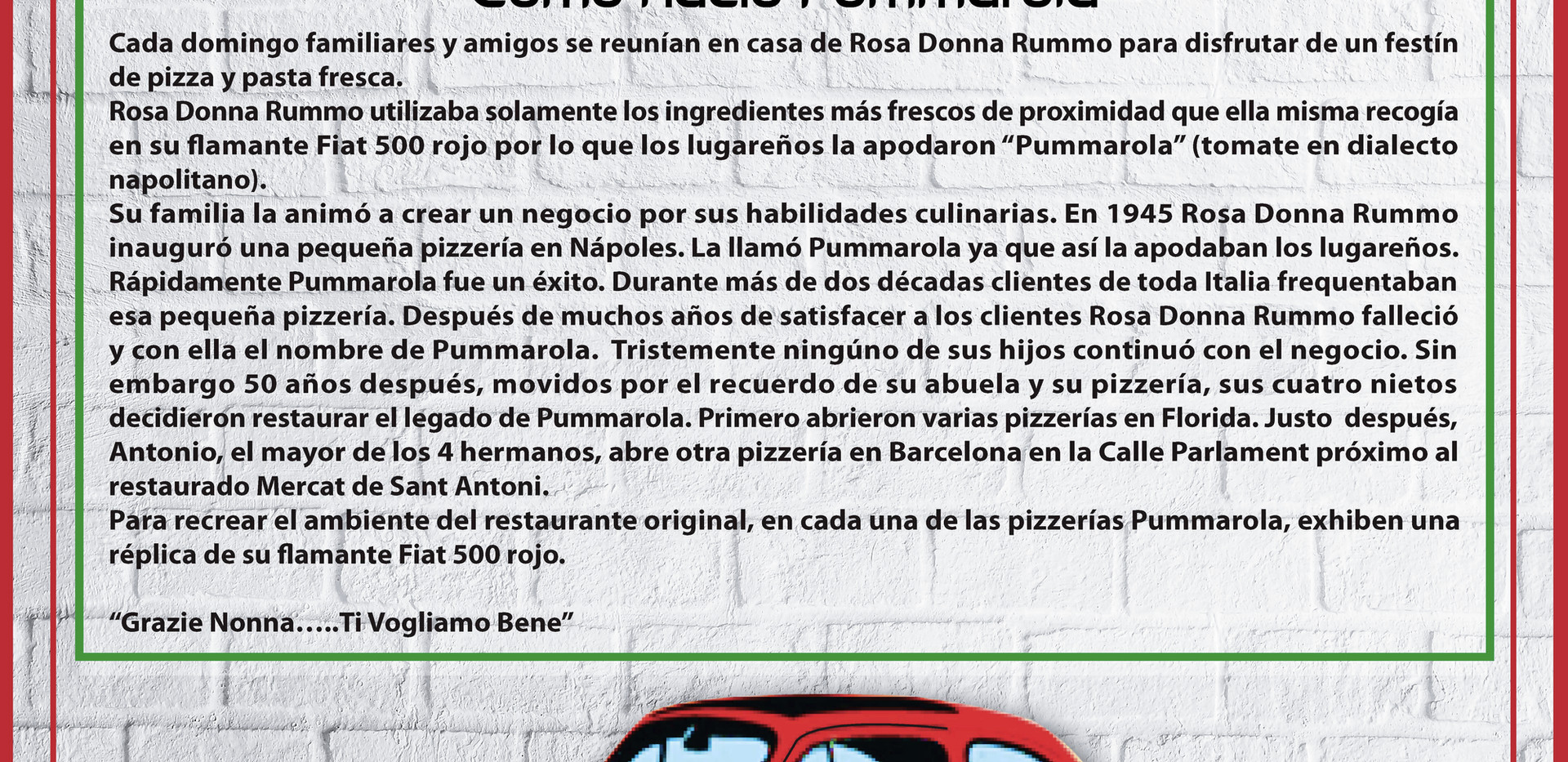 Pummarola menu - NEW - Spanish & Catalan