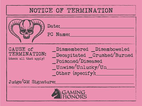 Pink Slips of Doom! (Four pads of 25 slips)
