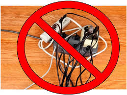 Don't overload your extension cords or outlets this season