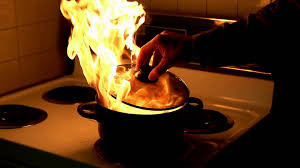 Combatting grease fires in your home the safe way