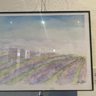 Lavender Field by Yvonne Bulson