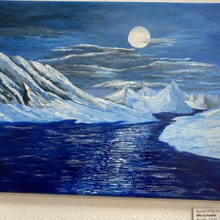 Home of the Polar Bear Rita Schaefer Acrylic, 12x16  $75