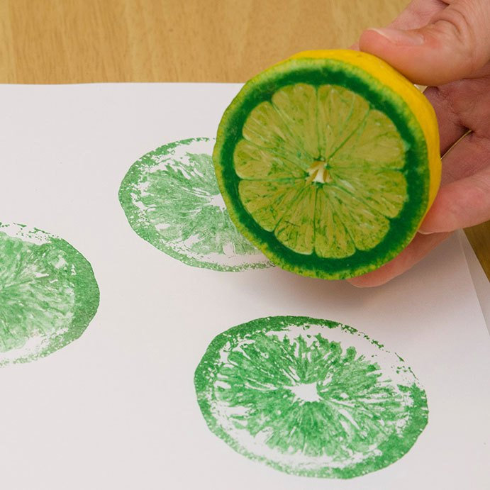 Printmaking with Produce for KIDS