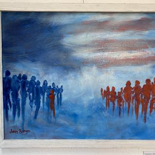 Pandemic 2020 Janis Burgin  Oil, 16x20  $150