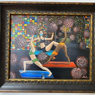Pandemic Yoga Gail Leivian Oil, 21.5x25  $250