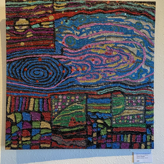 Blackhole Selvage and Recycling Company James Mustion Mixed Media, 24x24  $200