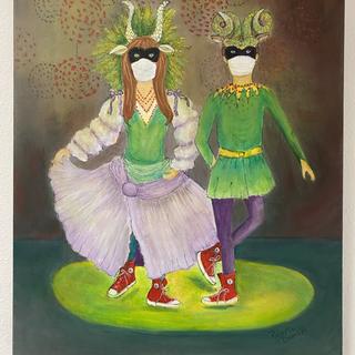 Masked Ball 2020 Roberta Dunkel  Mixed Media, 16x20  $150