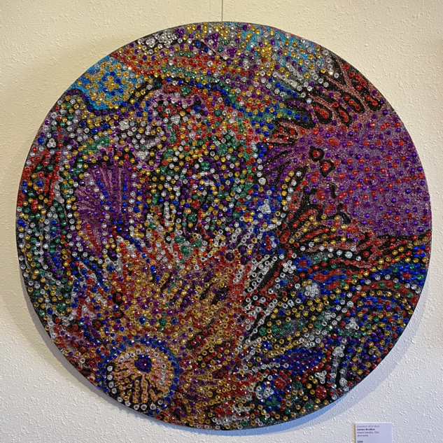 Creation of a Virus James Mustion Mixed Media, 32in. diameter  $200