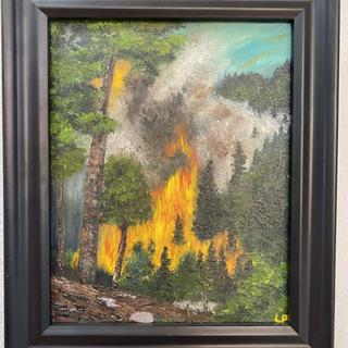 Fire Ban  Leann Porrello  Oil on canvas, 8x10  $300