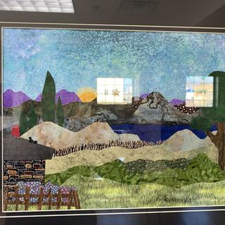 Evening Valley Sharon Gulick Fabric, 20x24  $100