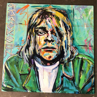 Kurt Cobain Garrett Jackson  Acrylic, 24x24  $700