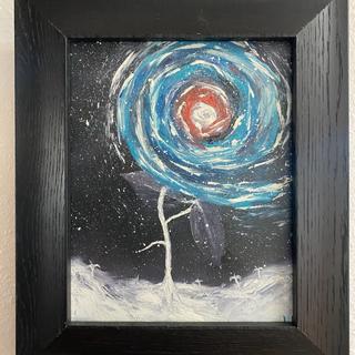 Cosmic Flower Leann Porrello  Oil on canvas, 8x10  $125