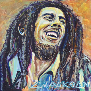 Bob Marley Garrett Jackson  Acrylic, 24x24  $700