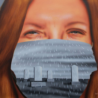 Tears & Rain  Fred Schollmeyer Airbrush, 16x18  $198
