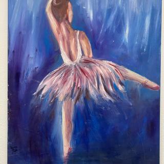 Dancing in Deep Blue Yvonne Bulson Oil, 22x28  $200