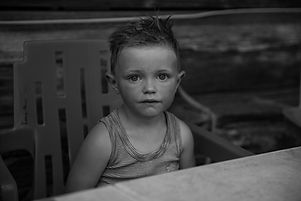 Photographe portrait noir et blanc enfant